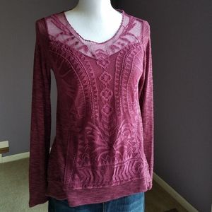 Xhilaration Embroidered Top Small NWOT
